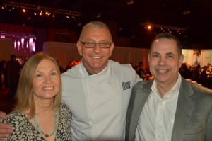 Chef Robert Irvine with Wanda and Ed
